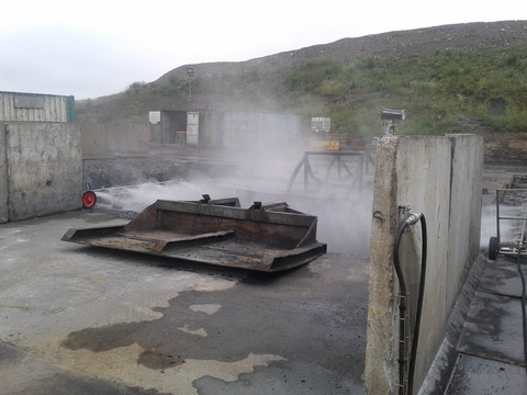 Traitement des poussières par rampes mobiles sur fosse Classe 1